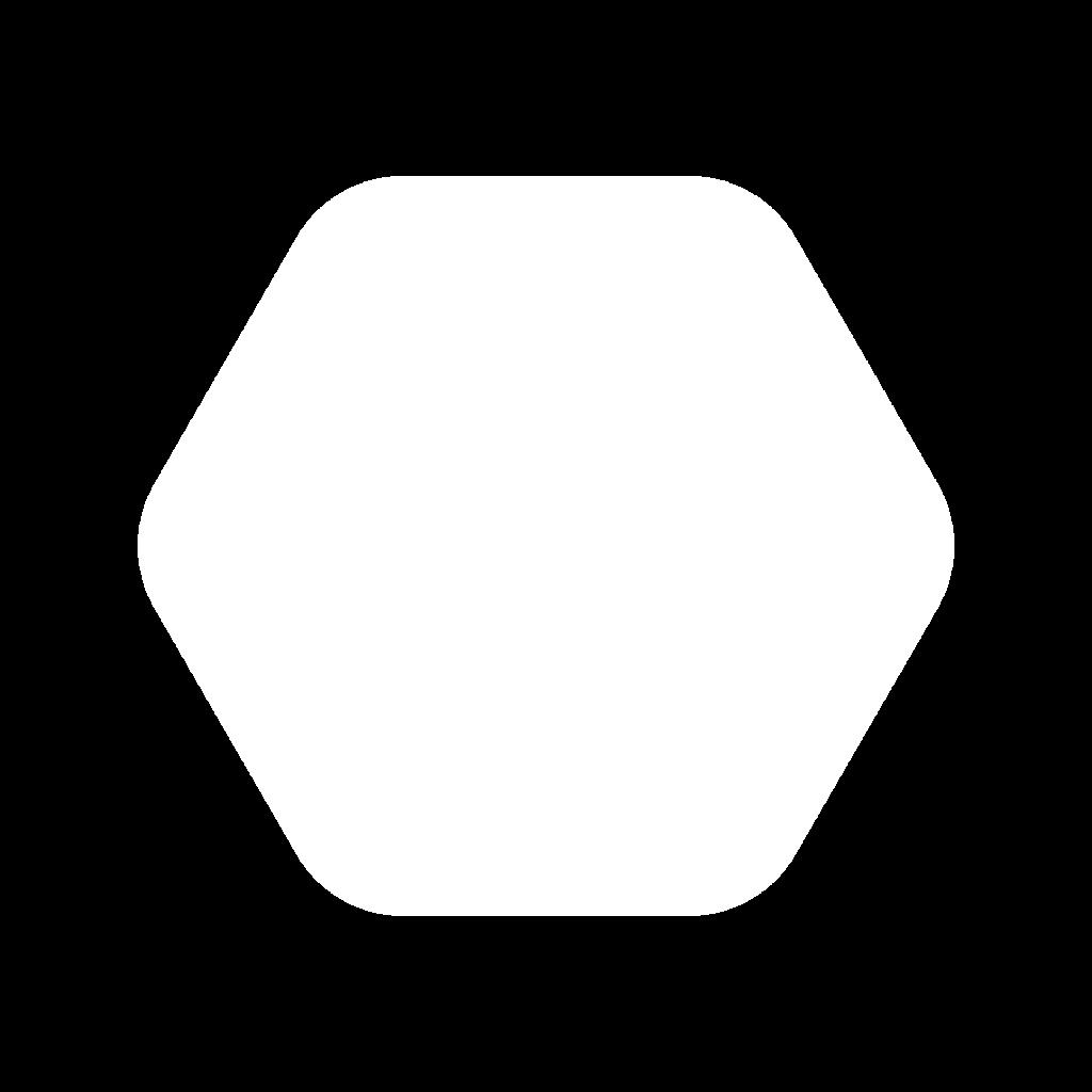 white hexagon design element