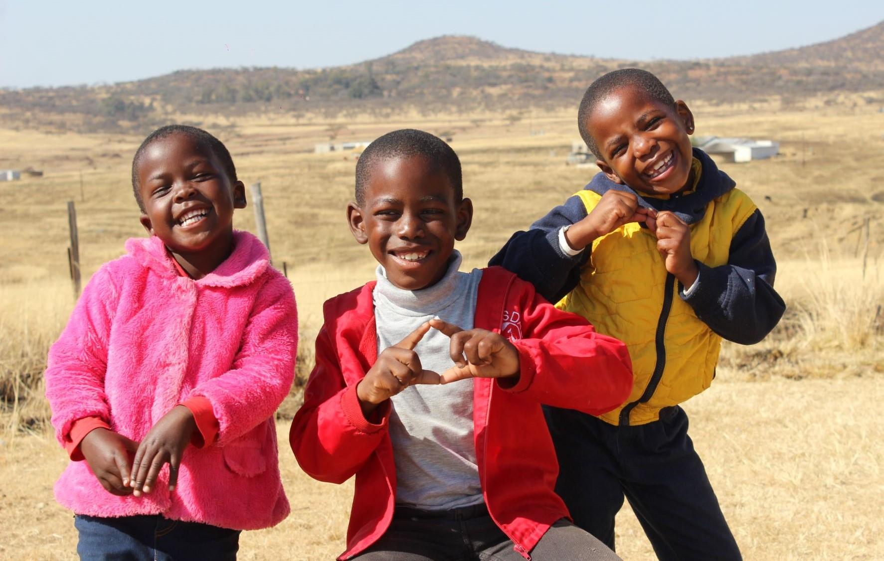 Joyful Children in South Africa